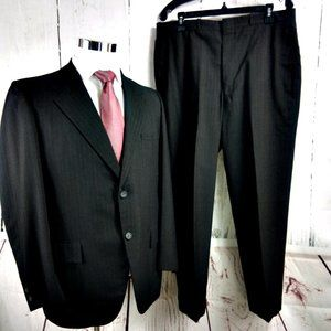 Strathmore Clothes 41R Brown Striped 2pc Suit
